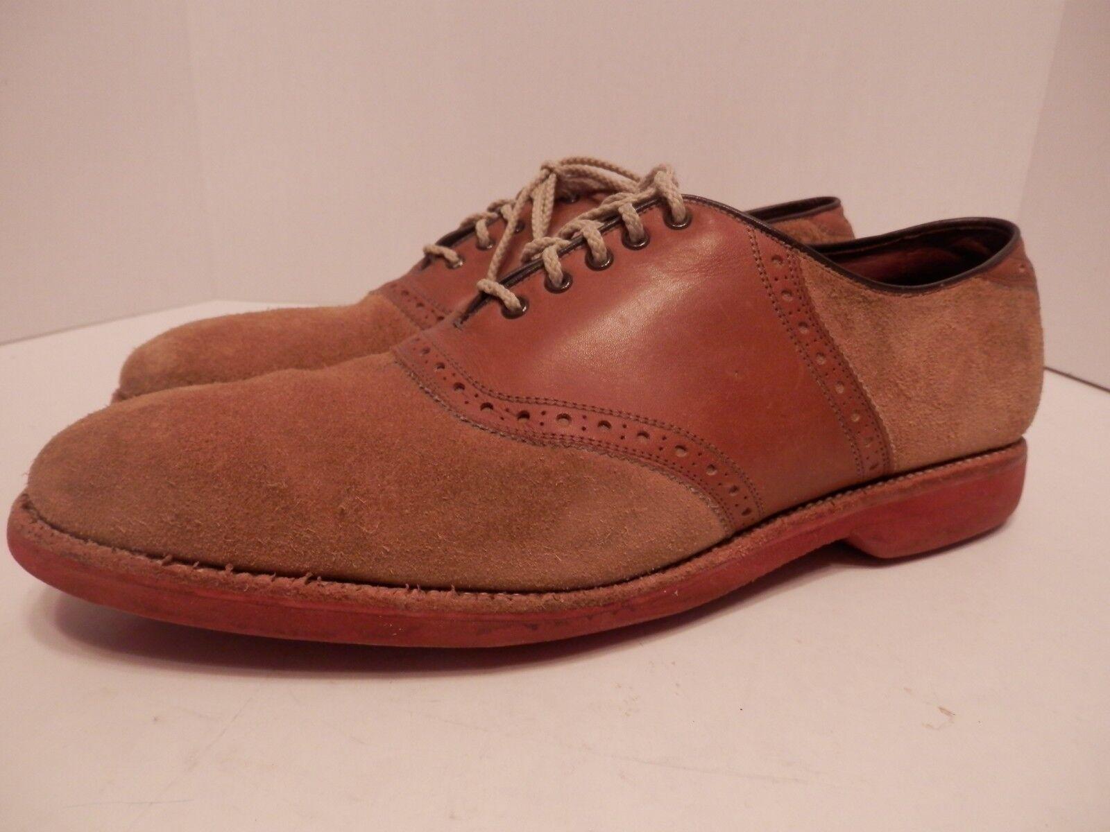 Allen Edmunds Oakmont-VGC-Mens 10D-Suede Leather Moc Toe Oxford-Free Shipping