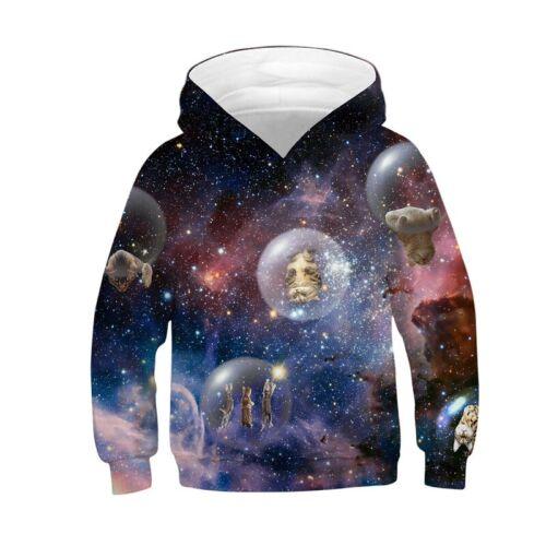 Kids Boys Girls 3D Printed Hoodie Sweatshirt Pullover Jumper Jacket Coat Hooded
