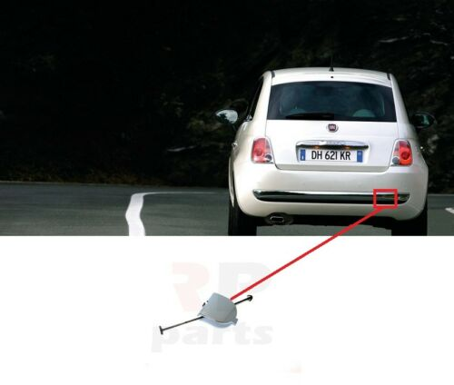 2007-2015 NEW REAR BUMPER CHROME TOWING EYE COVER CAP FOR FIAT 500 312