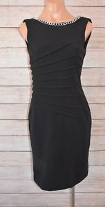 MR-K-Pencil-Dress-sz-8-small-black-stretch-cocktail