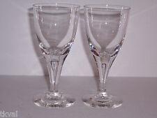 SKRUF Stockholm  (2)  CRYSTAL CLEAR CORDIALS / WINE GLASSES