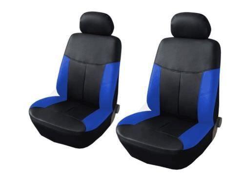 1+1 vordere Sitzbezüge Satz Blau Kunstleder Neu für Mercedes Benz Toyota Volvo