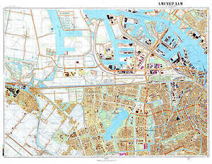 Russian-Soviet-Military-Topographic-Maps-AMSTERDAM-Nerherlands-1-10K-REPRINT