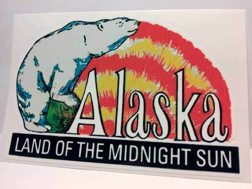 Alaska Vintage Style Travel Decal / Vinyl Sticker, Luggage Label