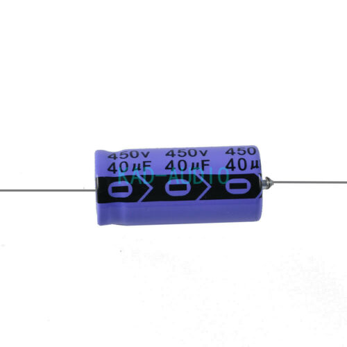 2pcs Axial Electrolytic Capacitor 40uf 450V Vintage Guitar Tube Amp DIY