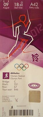 London 2012 Ticket Olympic London 9/8/2012 Leichtathletic Athletics # A42 2019 New Fashion Style Online Sports Memorabilia