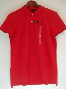 bf0b3b71 Tommy Hilfiger BAREBERRY Pique Polo Shirt Women's Relaxed Easy Fit ...