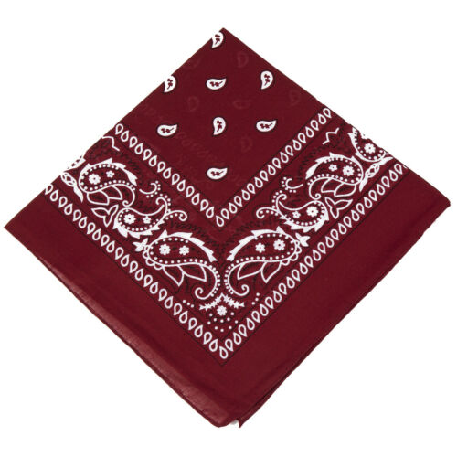 Pick 22 Colours 6 Unisex 100/% Cotton Paisley Bandanas Neck Scarf Biker Bandana