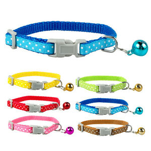 3pcs-Nylon-Dots-Print-Puppy-Small-Cat-Dog-Collars-with-Bell-for-Cat-Kitten-Dogs
