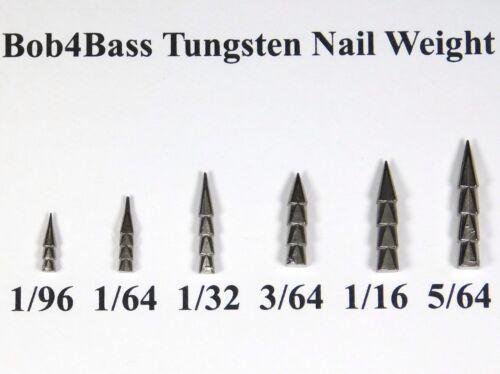 Bob4Bass Tungsten Nail Weights Worm Weights