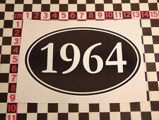 1964 Year Sticker - BSA Triumph Norton Royal Enfield Triton - All years in shop!