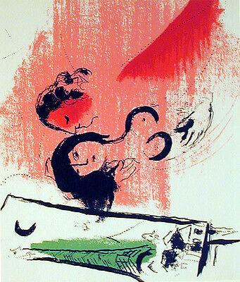 Marc Chagall  - Lassaigne - Green Eiffel Tower (M.201) - Original Lithograph