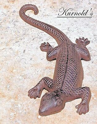 1x kleine Gusseisen Eidechse Leguan Lurch Deko Garten Salamander mini aufhängen