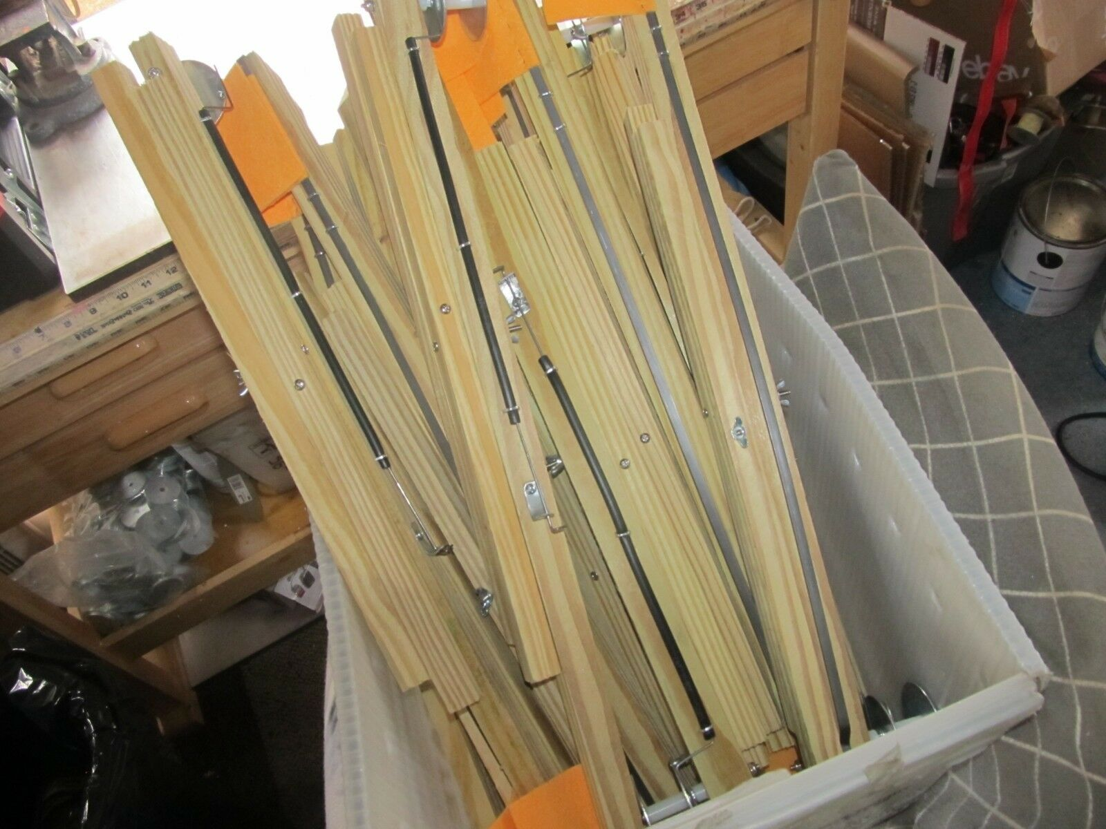 5 SURPLUS WOOD ICE  FISHING TIP UPS 22  LONG 300 FT. SPOOL 3X3 orange FLAG  70% off cheap