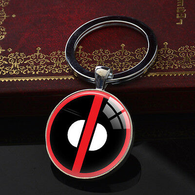 Deadpool Key Rings Marvel Comics Silver Metal Bag Keychain Car Keyring XK-113