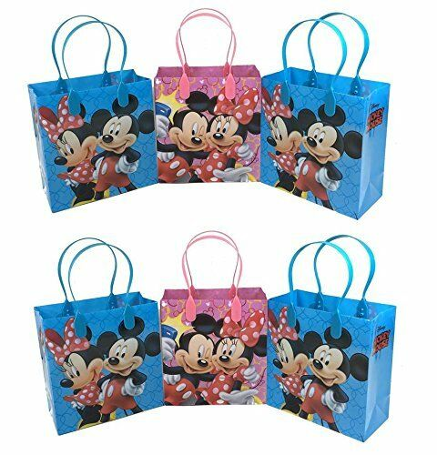 12pcs Mickey and Minnie Mouse Birthday Party Favor Goodie Gift candy Loot Bags