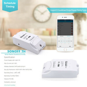 Details about New Wireless Sonoff TH16 Smart Wifi Monitor Temperature  Humidity Sensor Switch