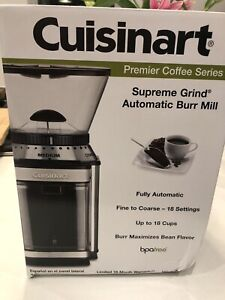 Cuisinart-DBM-8-Supreme-Grind-Automatic-Burr-Mill-Coffee-Grinder-New