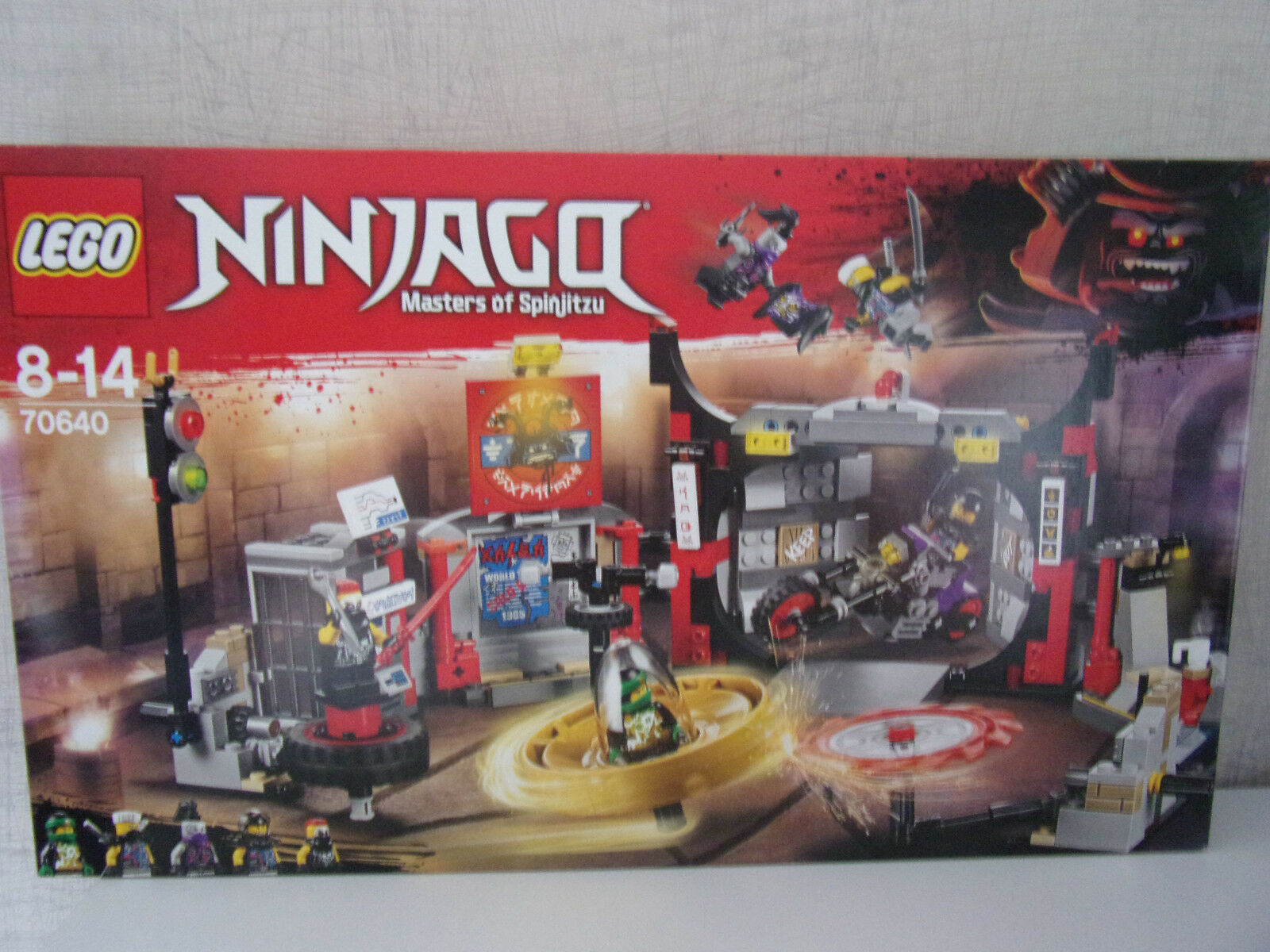 LEGO Ninjago Master of Spinjitzu 70640 quartier generale D. motorradf...  - NUOVO & OVP  distribuzione globale