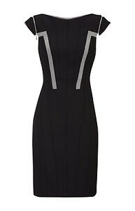 Branded Uk Karen 12 Exquisite Dress Millen Black With Shoulder Zips 8wHgqwFx