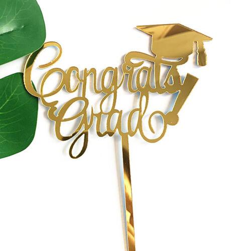 Acrylic Cake Topper Insert Card 2019 Graduation Cake Decoration