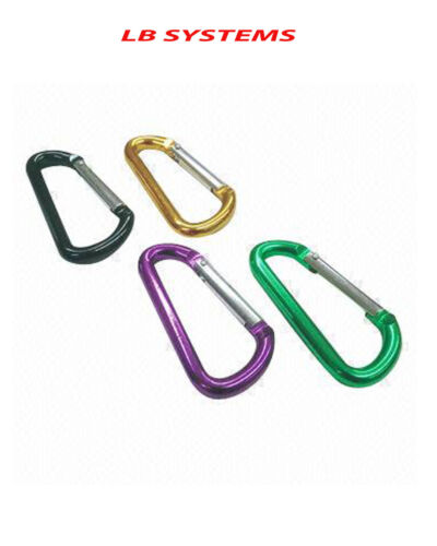 4 X Aluminium printemps D Link Set libération rapide 8 cm Snap Crochet Porte-clés//Assorted