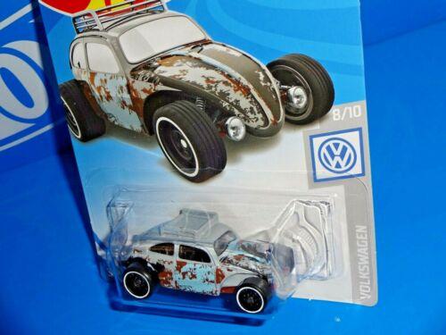 Hot Wheels 2019 Volkswagen Series #69 Custom Volkswagen Beetle Gray w// ST8s