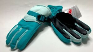 Champion-3M-Thinsulate-Teal-Ski-Gloves-Waterproof-SZ-4-7-Small