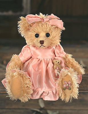Teddy Bear /'Alyssa/' Settler Bears Handmade Collectable Gift 25cms BRAND NEW