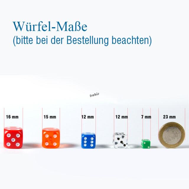 Augen Würfel Spielwürfel von Frobis 100 Stück 12mm Weisse Knobel Würfel