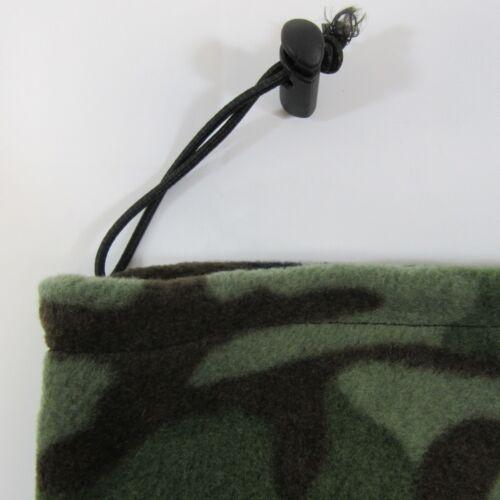 Adults Mens Neckwarmer Neck Gaiter Reversible Fleece Warm Winter Hat Camo Black