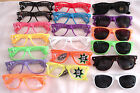 CLEAR and DARK 80's GLASSES SUNGLASSES NERD FRAME RETRO LENS PARTY RAVE NEW