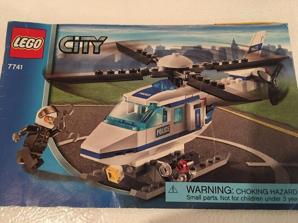 Lego City Police Helicopter 7741 Near Complete W Instructions