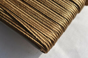6mm Japanese silk tsuka-ito, gold-brown