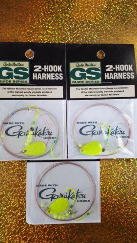 Crawler Worm Harness/'s 3 Spin n Float Premium Gamakatsu Painted Hooks USA Made
