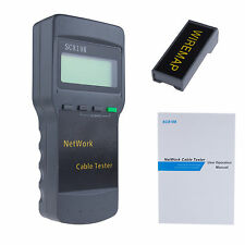 CAT5 RJ45 Network Cable Tester Test Meter SC8108 Test Line Length Brand New
