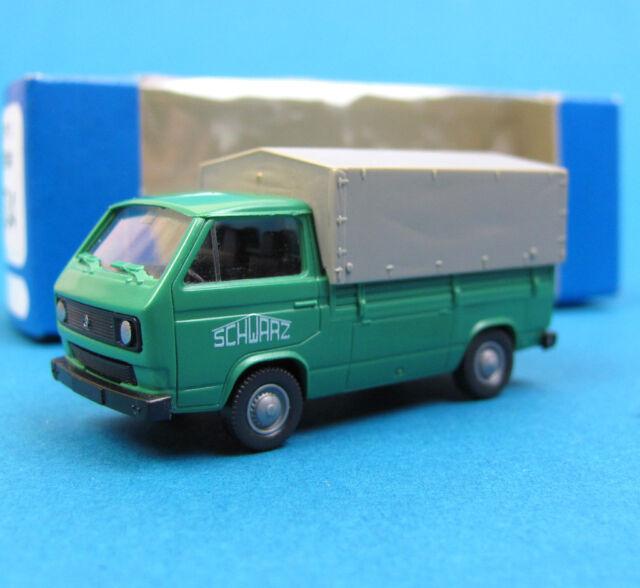 Roco H0 1534 VW T3 Transporter Pritsche Plane SCHWARZ-BAU HO 1:87 OVP Volkswagen