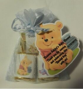 Personalized winnie the pooh tigger eyore baby shower party favor image is loading personalized winnie the pooh tigger eyore baby shower negle Images