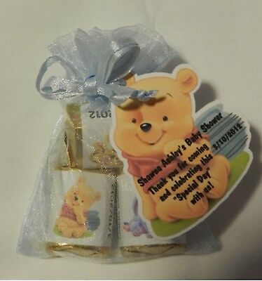 PERSONALIZED WINNIE THE POOH, TIGGER, EYORE BABY SHOWER PARTY FAVOR GIFT TAGS