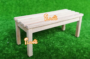 Super 1 12 Dollhouse Miniature Wooden Bench Garden Furniture No Short Links Chair Design For Home Short Linksinfo