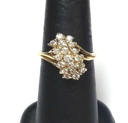 (MA1) 14k Yellow gold Cubic Zirconia 0.63TCW 4.3g Size 7 Lady's Ring