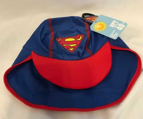 Superman UPF Protection 40+ Hat//Cap Blue OneSize Brand New Toddler
