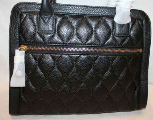Amplio 12 Satchel Classic Large Bradley Quilted In Leather Vera Natalie Black Nwt UPHwqnz