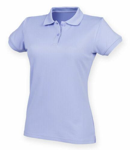 SIZES XS-3XL Henbury Ladies Coolplus Wicking Pique Polo Shirt