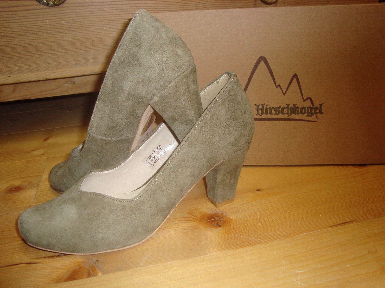 Hirschkogel Trachten Pumps Schuhe khaki Damen Gr. 36 37 39 41