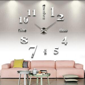 Am-Modern-Mirror-Effect-Wall-Clock-3D-Sticker-DIY-Art-Home-Living-Room-Decor-My