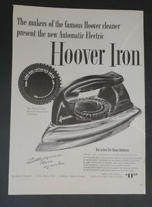 Original-Print-Ad-1947-HOOVER-IRON-Automatic-Electric-Vintage-Art