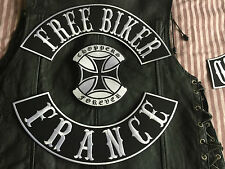 Free Biker France Choppers Forever komplettes Patch Set MC  ohne Kutte