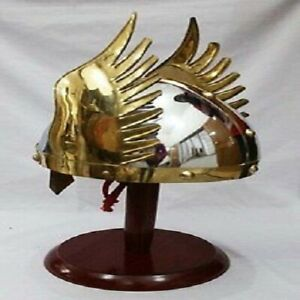 Medieval Knight Viking Helmet Armor Winged Norman Helm Fully Wearable w// Liner
