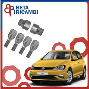 Kit Bulloni Antifurto Per Volkswagen Golf VII Ruote in Acciaio O Lega